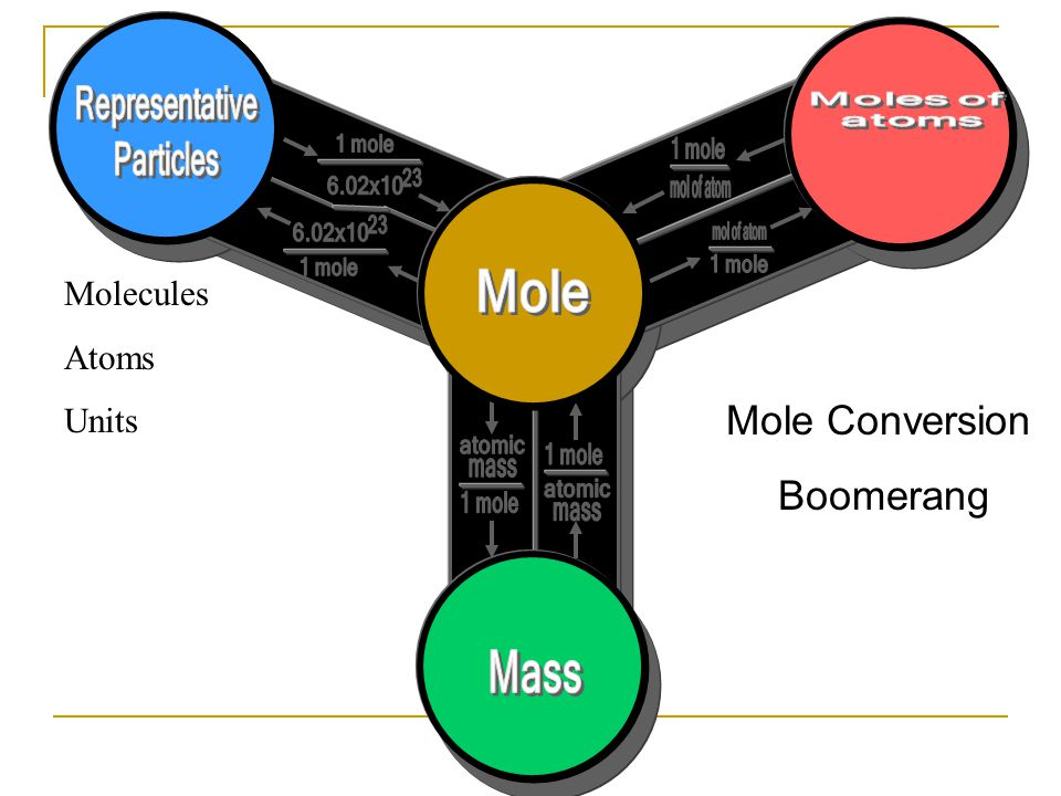 Molecules Atoms Units Mole Conversion Boomerang