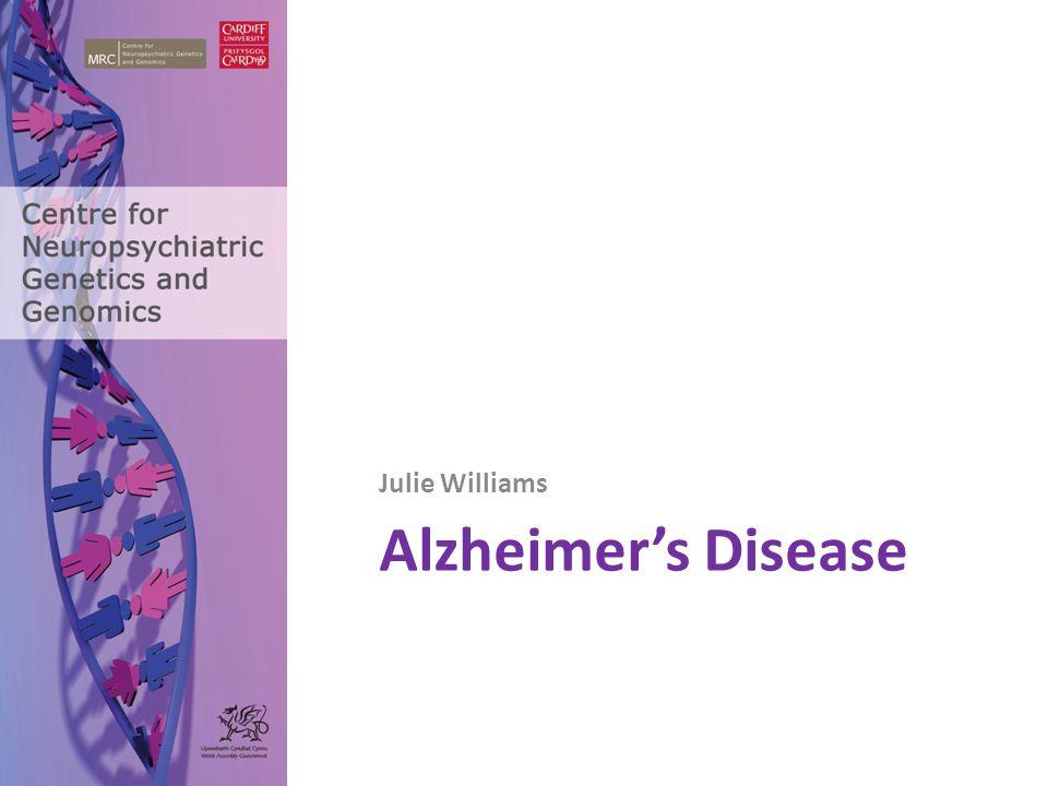 Alzheimer's Disease Julie Williams