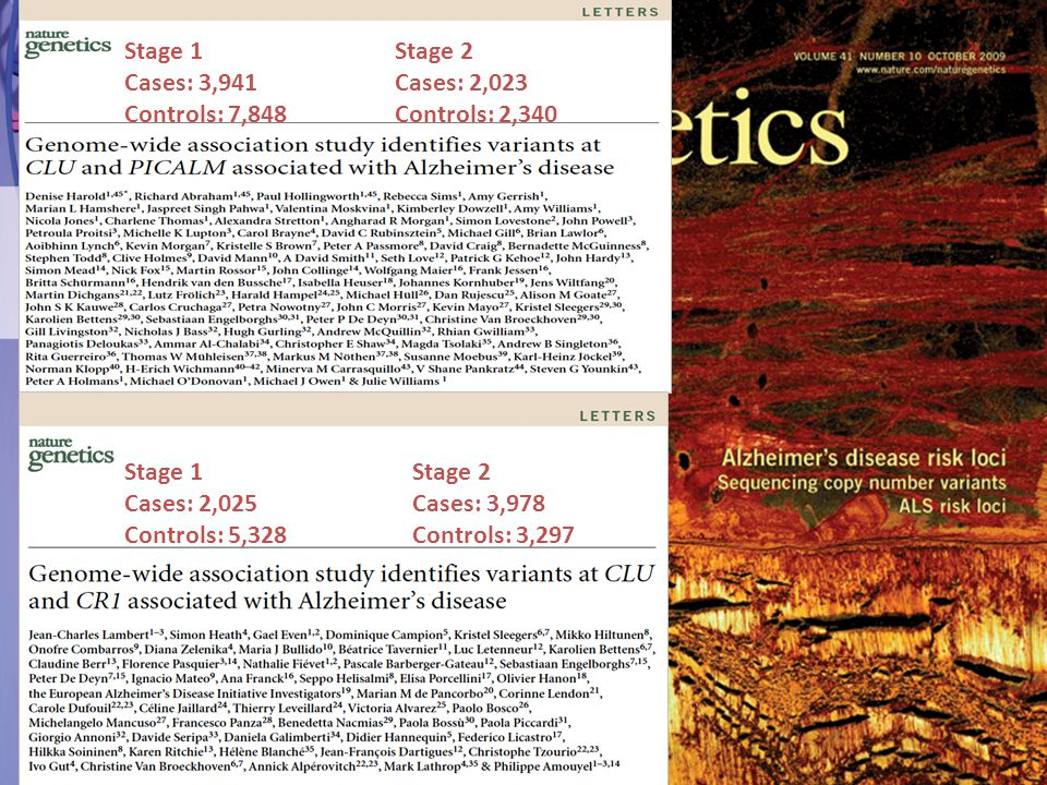 Stage 1 Cases: 3,941 Controls: 7,848 Stage 2 Cases: 2,023 Controls: 2,340 Stage 1 Cases: 2,025 Controls: 5,328 Stage 2 Cases: 3,978 Controls: 3,297