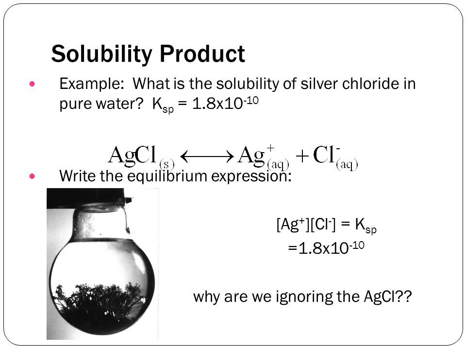 Precipitation Equilibria. Solubility Product Ionic Compounds That