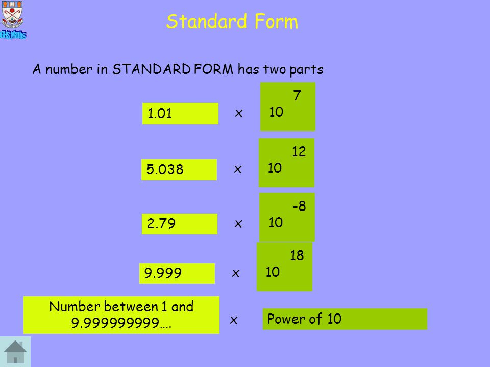SF to Normal Examples 01234 56789 7.84x10^6 C.
