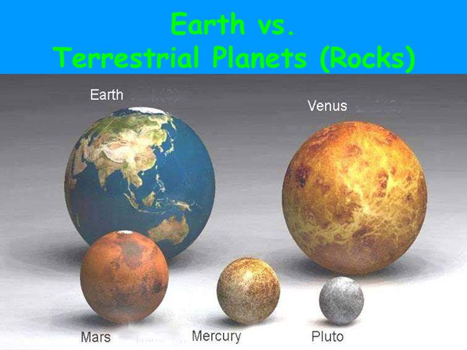 Earth vs. Terrestrial Planets (Rocks)