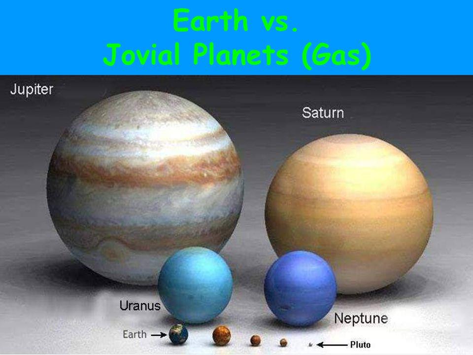 Earth vs. Jovial Planets (Gas)