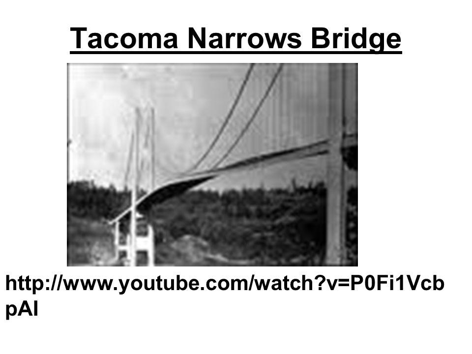 Tacoma Narrows Bridge http://www.youtube.com/watch?v=P0Fi1Vcb pAI