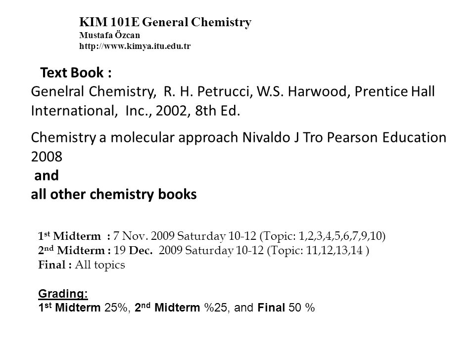 WEEKDATETOPICS 11 Oct.2009Electronic Structure of Atom (Chp:1-2-9) 2/08 Oct.