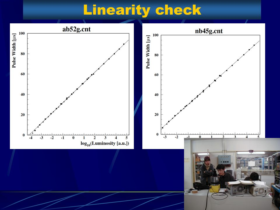 Linearity check