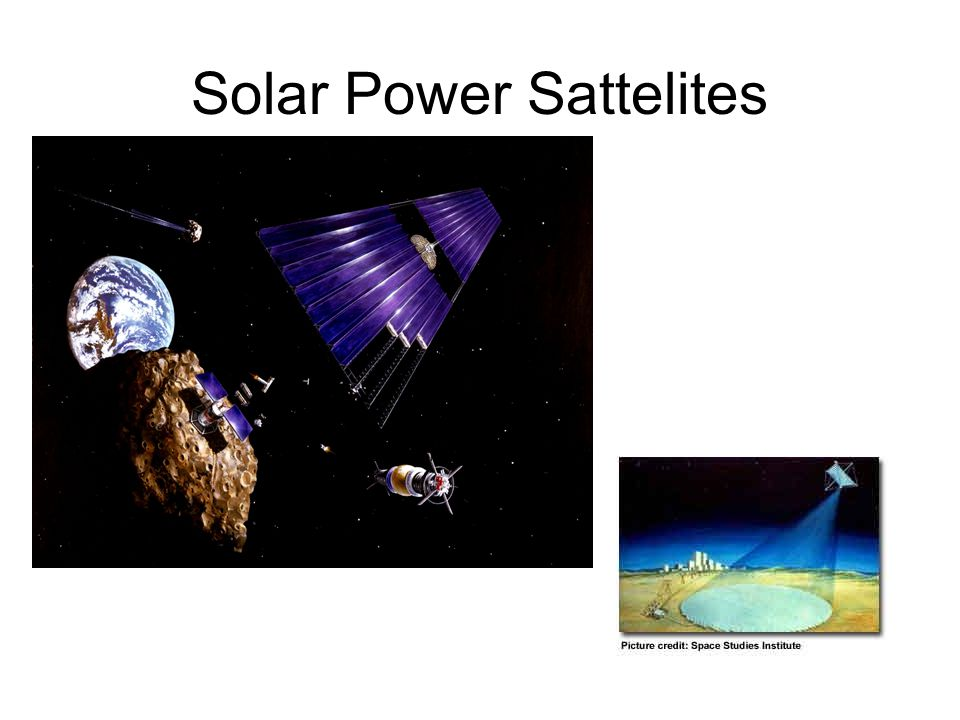 Solar Power Sattelites One suggestion for energy in the future is to
