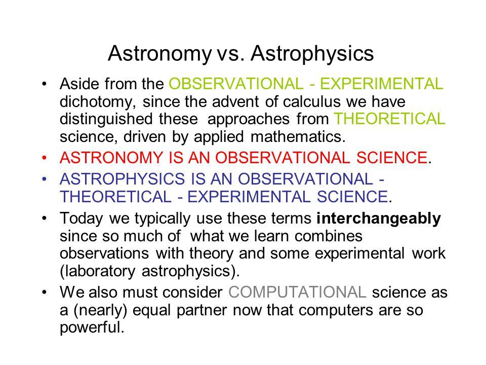 Astronomy vs.