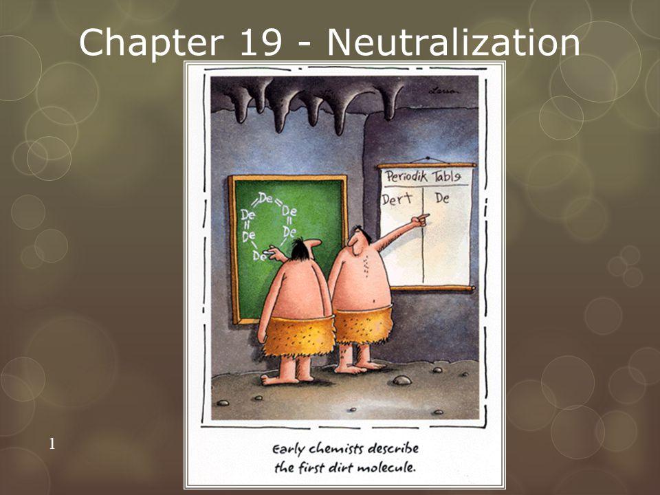 Chapter 19 - Neutralization 1