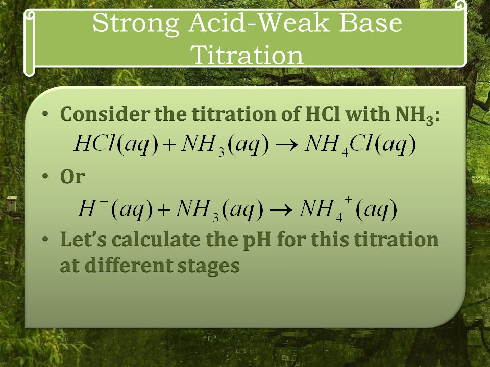 Strong Acid-Weak Base Titration