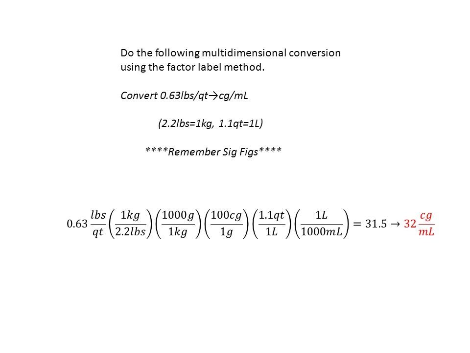 Do the following multidimensional conversion using the factor label method.