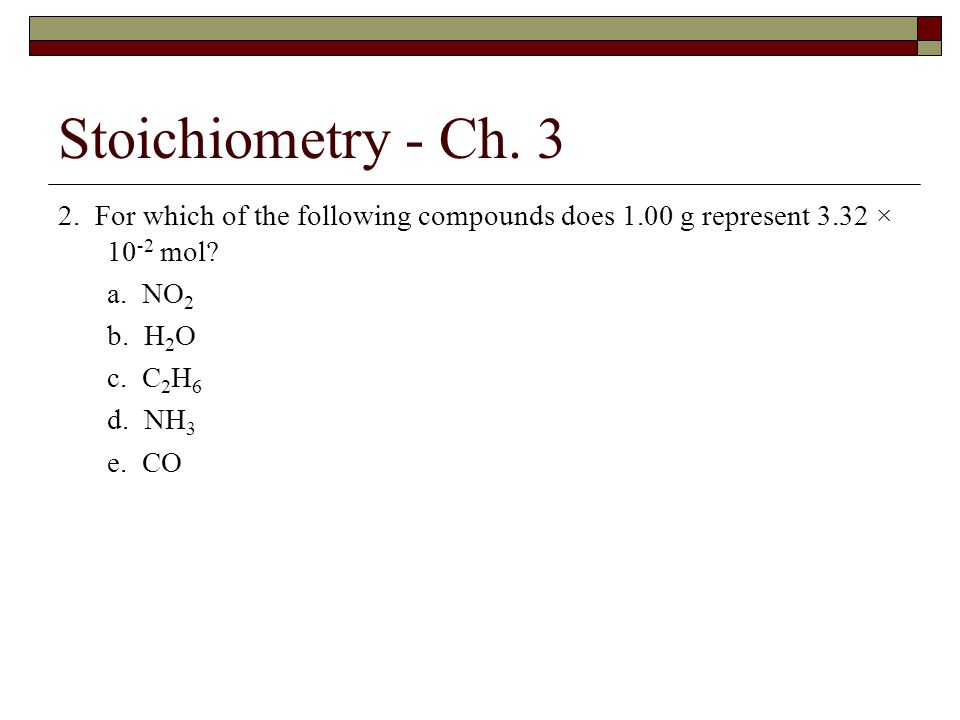 Ch.3 – Answer Key 10. A compound contains only carbon, hydrogen, nitrogen, and oxygen.