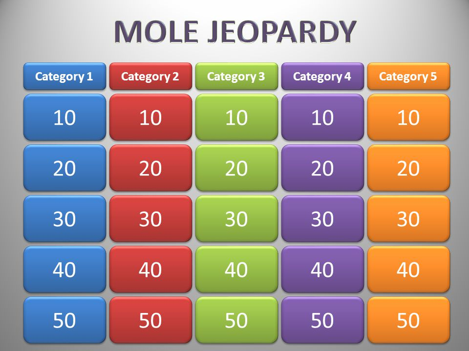 The number of grams in one mole of lead… AnswerAnswer!