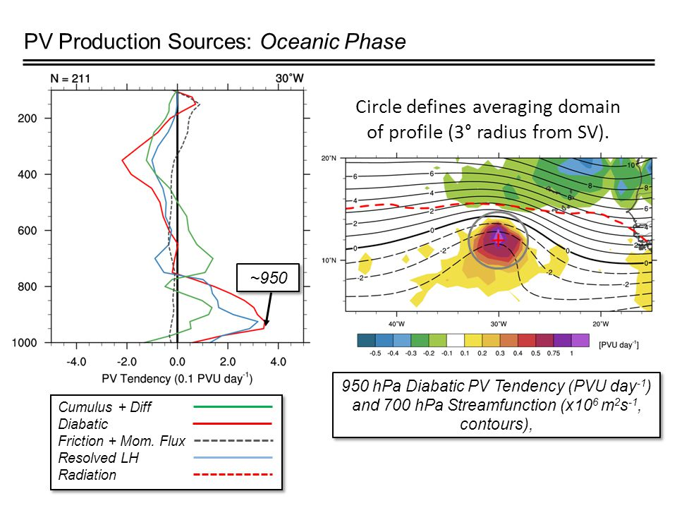 PV Production Sources: Oceanic Phase Cumulus + Diff Diabatic Friction + Mom.