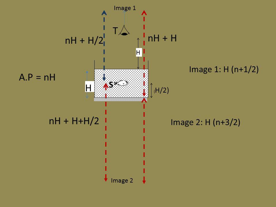 S T H H Image 1 nH + H/2 Image 2 nH + H nH + H+H/2 Image 1: H (n+1/2) Image 2: H (n+3/2) A.P = nH