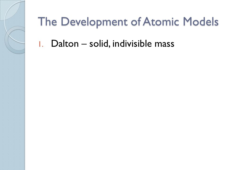 Periodic Law - When the elements are arranged in order of increasing atomic number, there is a periodic pattern in their physical and chemical properties.