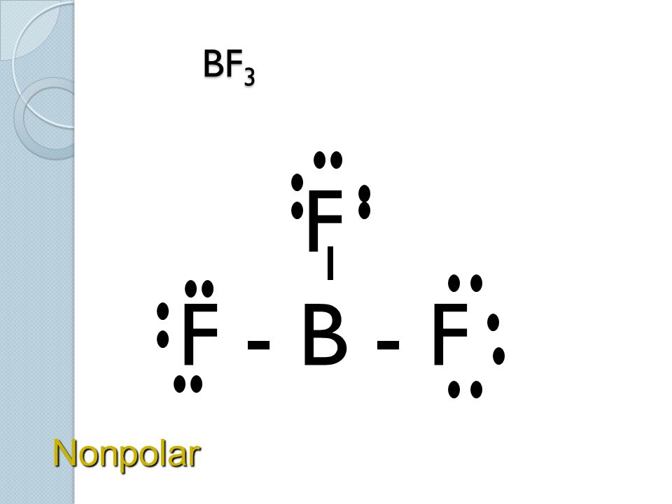 BF 3 BF 3 F F - B - F Nonpolar