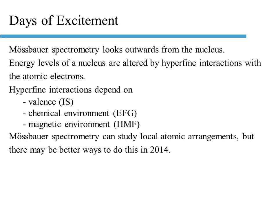 Atomic Energy LevelsNuclear Energy Levels Nuclear energy ~ 10 6 chemical energy Low nuclear transitions ~10 4 eV 1 eV 10 6 eV