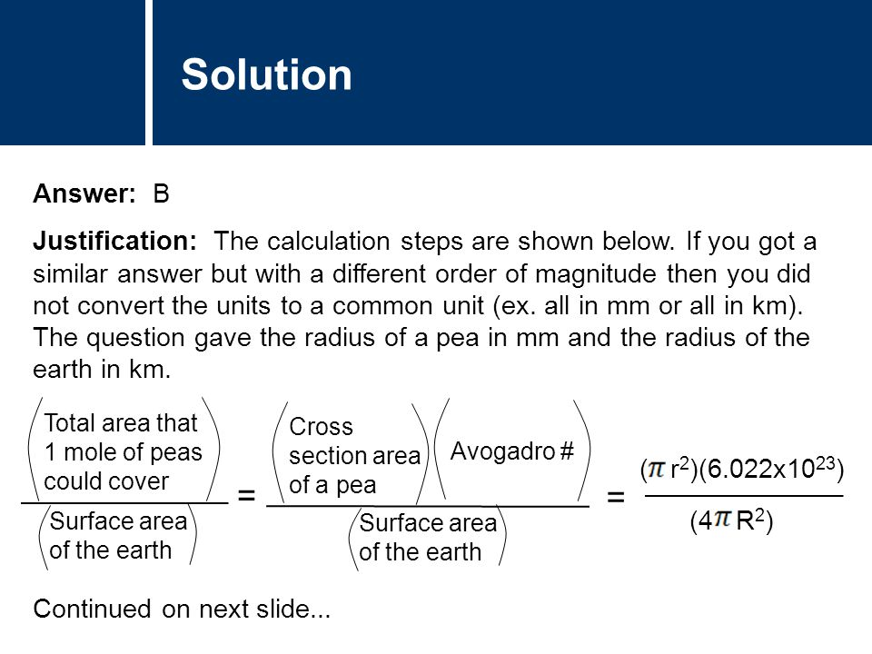 Solution Answer: B Justification: The calculation steps are shown below.