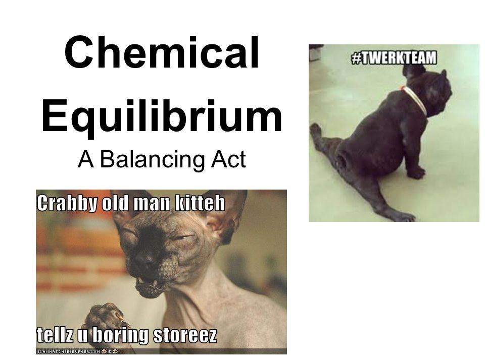 Chemical Equilibrium A Balancing Act