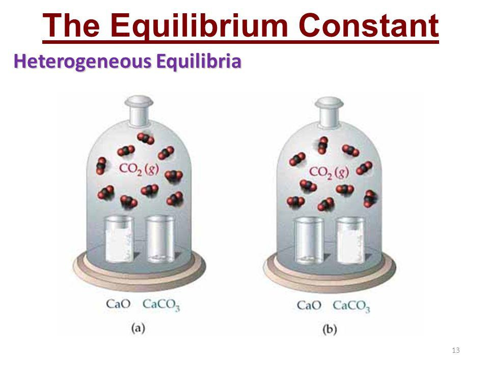 13 The Equilibrium Constant Heterogeneous Equilibria
