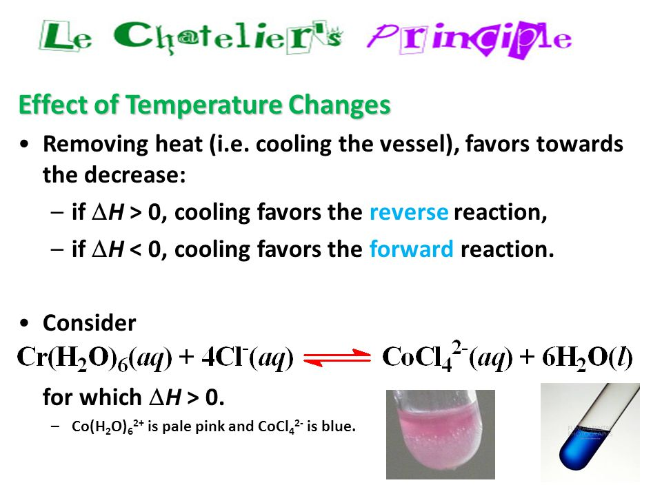 40 Effect of Temperature Changes Removing heat (i.e.