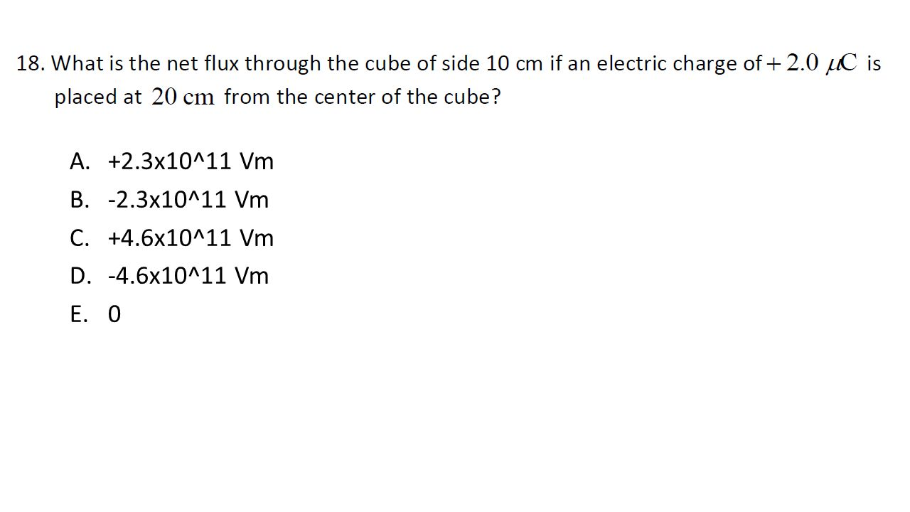 A.+2.3x10^11 Vm B.-2.3x10^11 Vm C.+4.6x10^11 Vm D.-4.6x10^11 Vm E.0