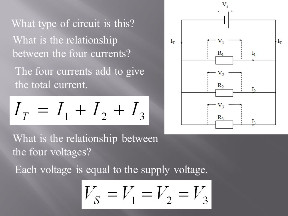 What type of circuit is this. What is the relationship between the four currents.