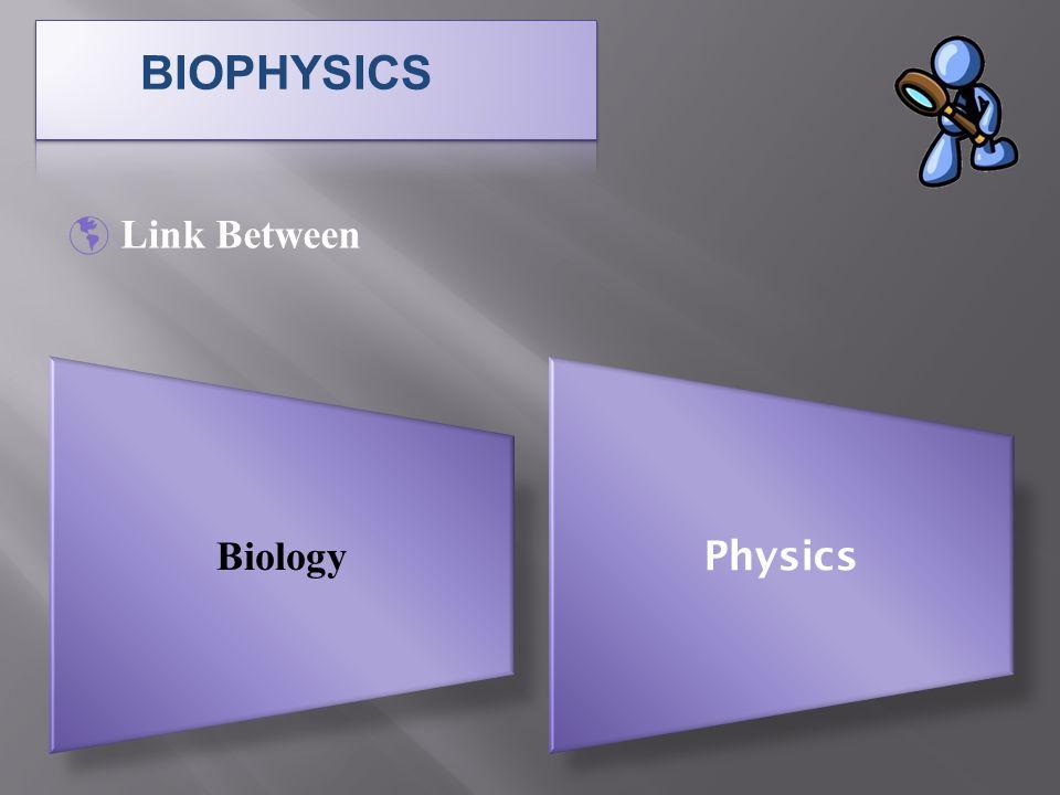  Link Between Biology Physics BIOPHYSICS