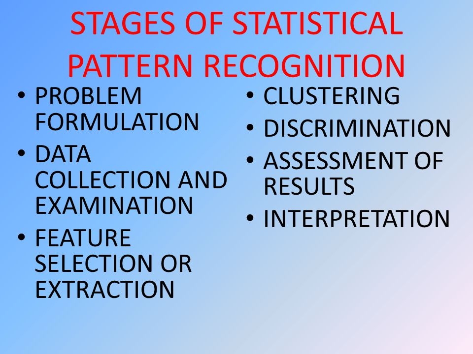Classification ONE There are two main divisions of classification: Supervised unsupervised