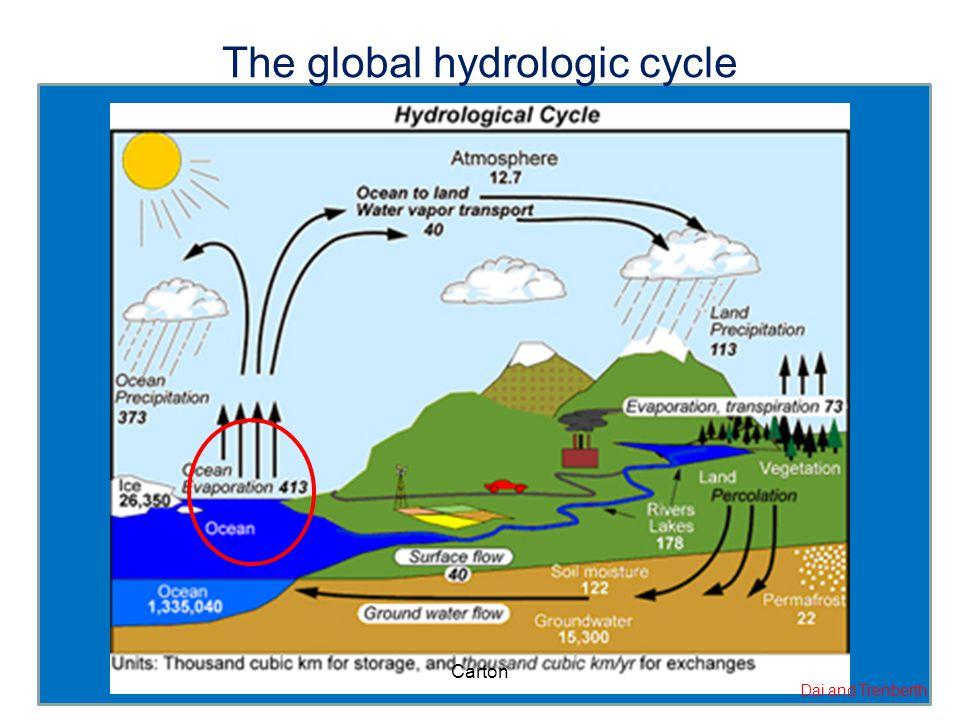 The global hydrologic cycle Dai and Trenberth Carton