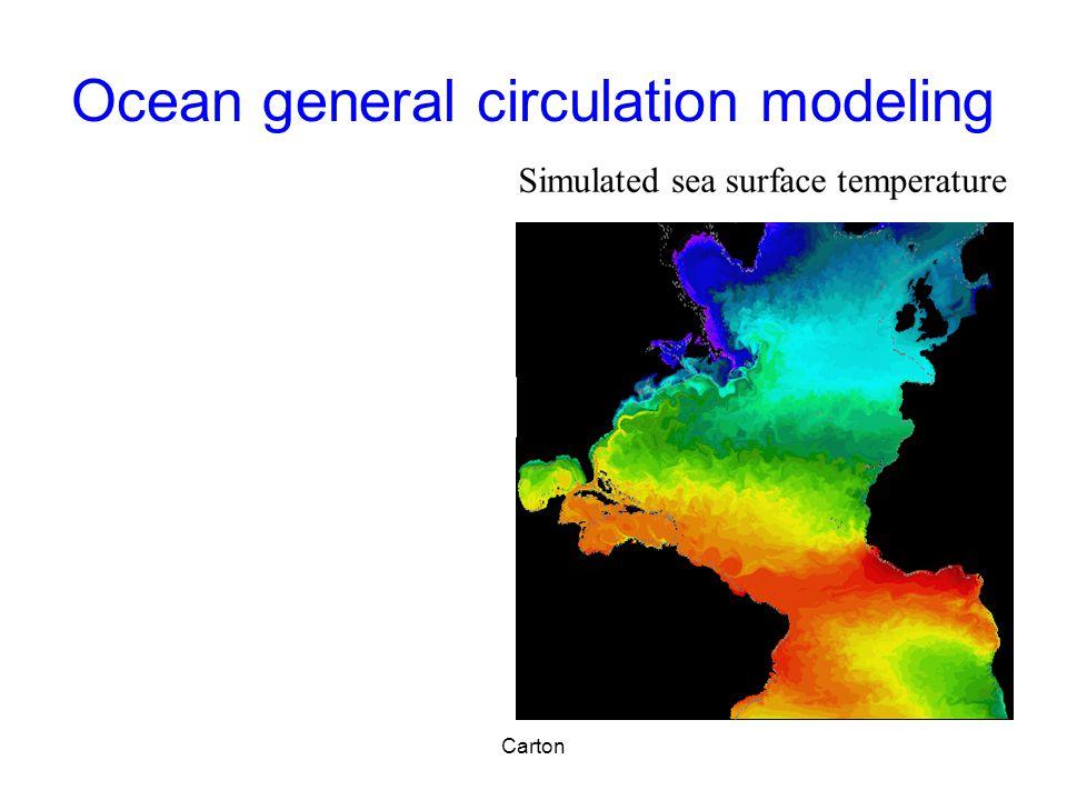 Ocean general circulation modeling Carton