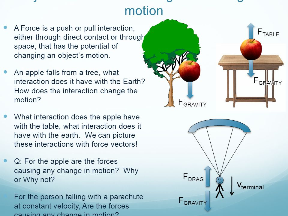Newton's Laws – N1: Law of Inertia F TABLE v terminal F DRAG F GRAVITY If the Sum of Forces on an object is zero, there will be no change in the motion of that object, or vice versa.