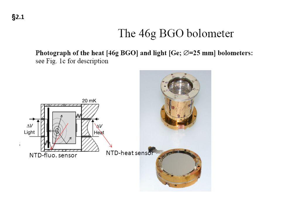 NTD-heat sensor NTD-fluo. sensor §2.1