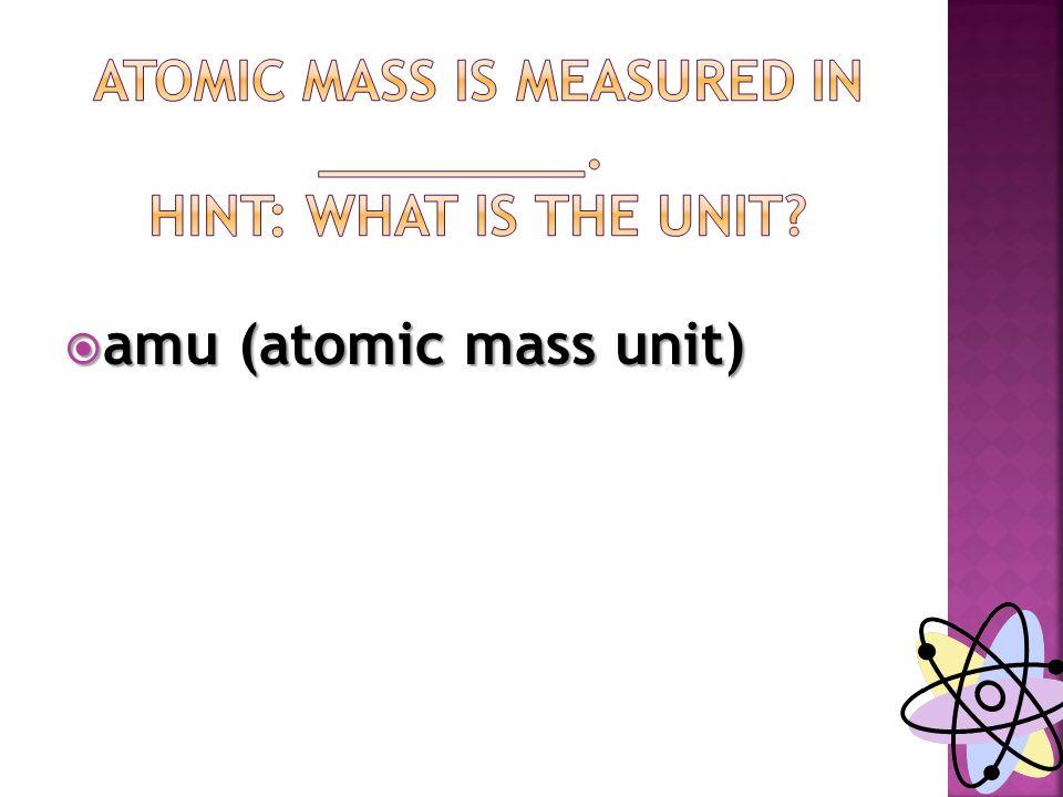  amu (atomic mass unit)