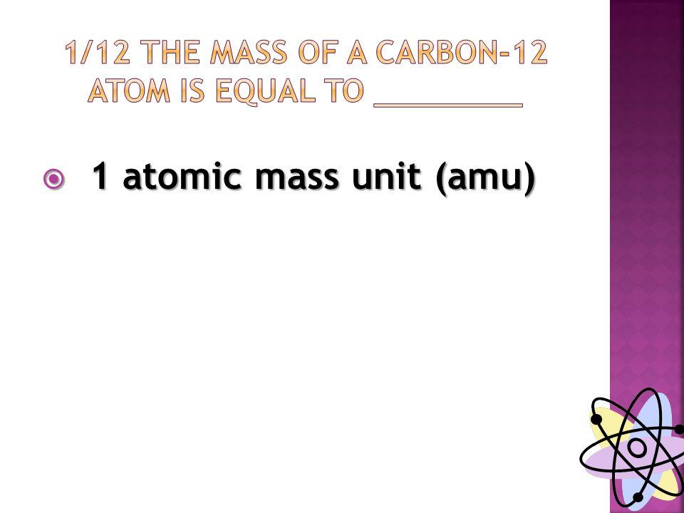  1 atomic mass unit (amu)