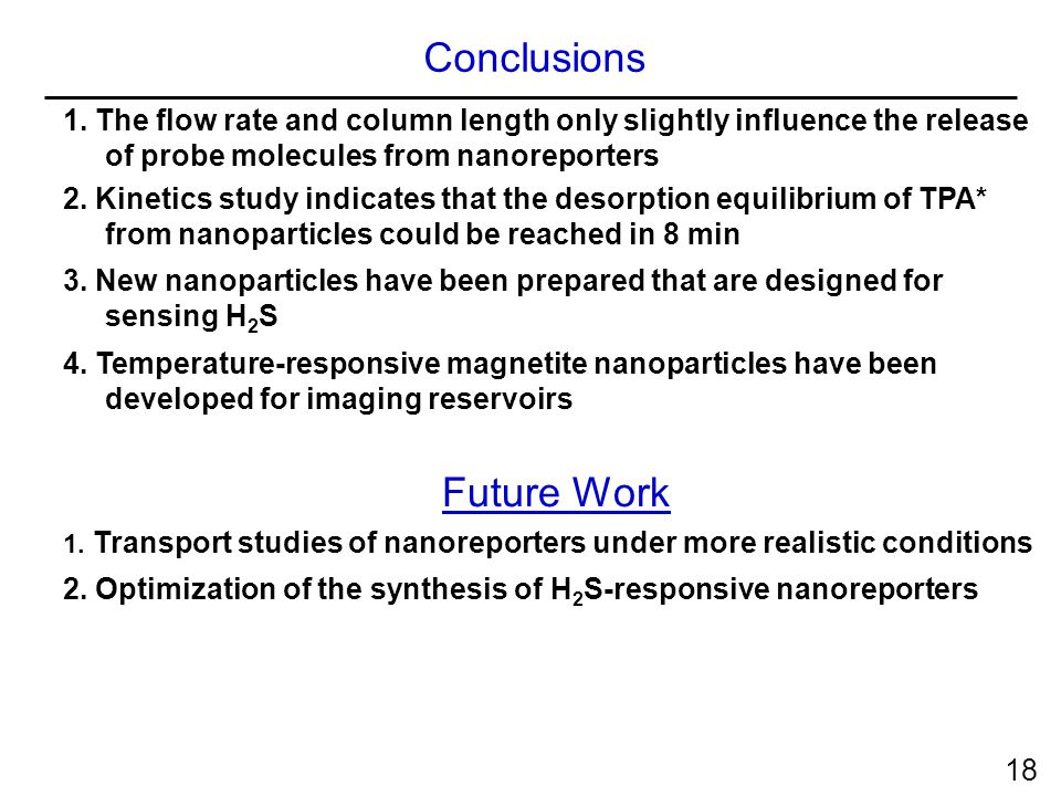 1. The flow rate and column length only slightly influence the release of probe molecules from nanoreporters 2. Kinetics study indicates that the deso