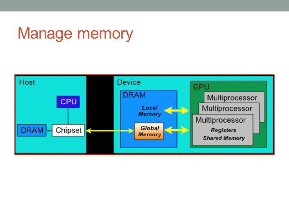 Manage memory