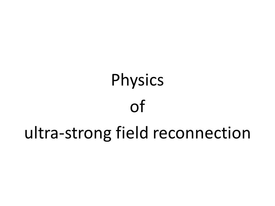 Physics of ultra-strong field reconnection