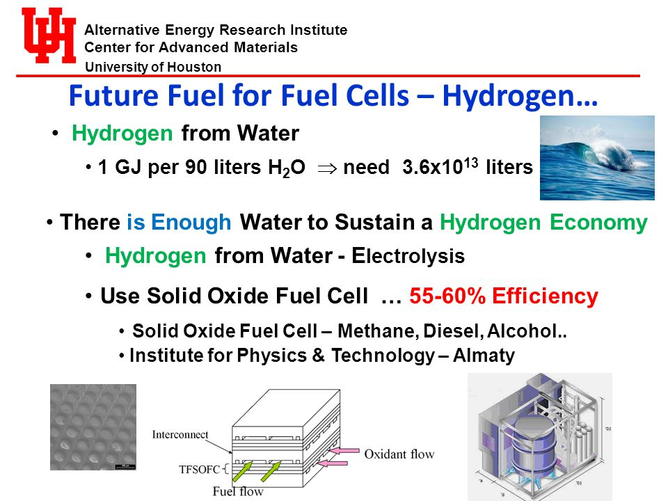 Alternative Energy Research Institute Center for Advanced Materials University of Houston Increased Efficiency Solar Cells Cover Complete Solar Spectrum Multi-Junction III-VCells Epitaxially Grown Cells – 42% Crystalline Silicon - Amorphous Silicon Heterojunction Cell -23%