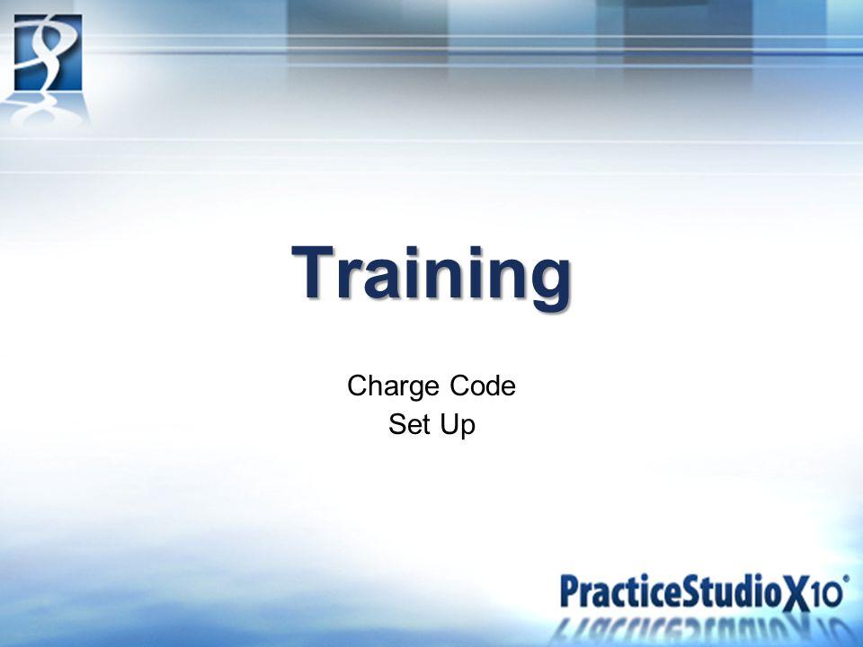 Training Charge Code Set Up