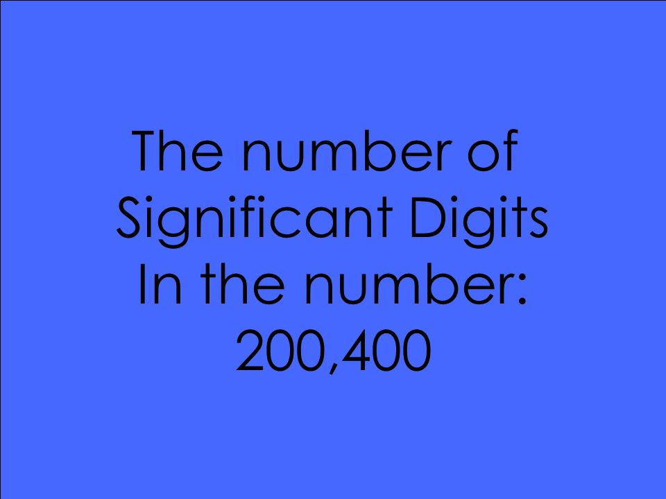 The number of Significant Digits In the number: 200,400