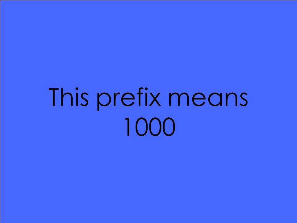 This prefix means 1000