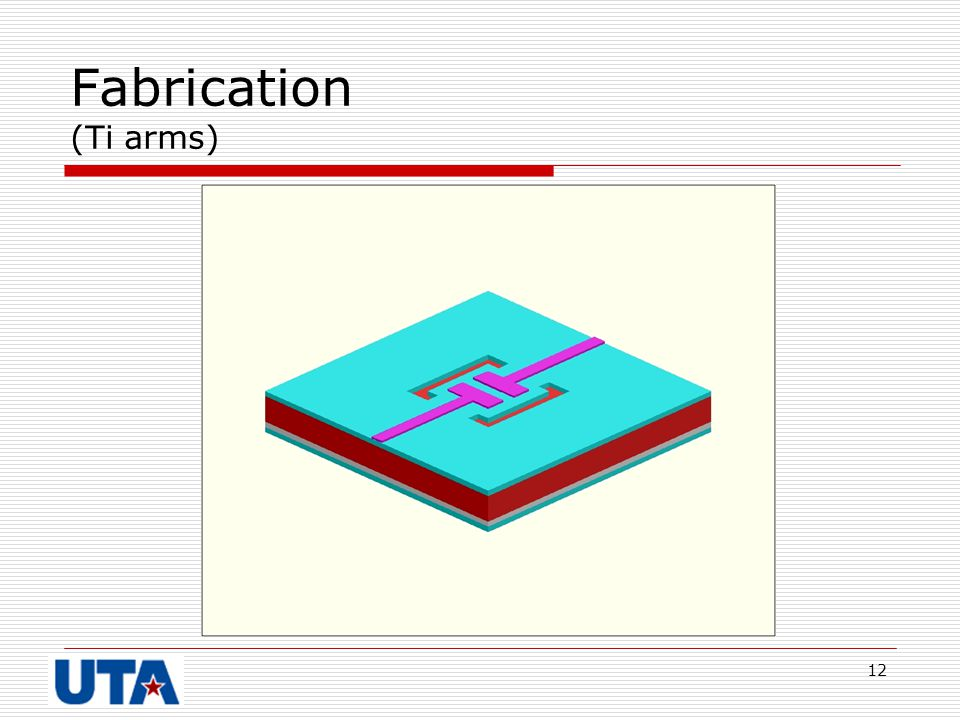 12 Fabrication (Ti arms)