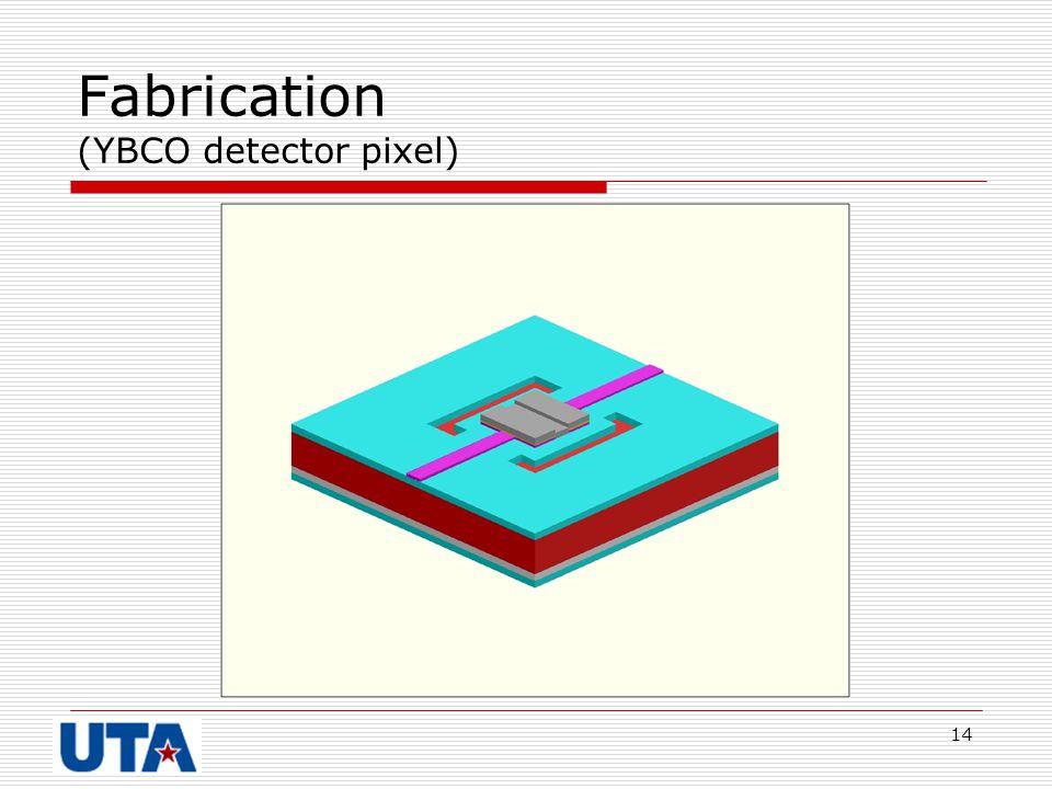 14 Fabrication (YBCO detector pixel)
