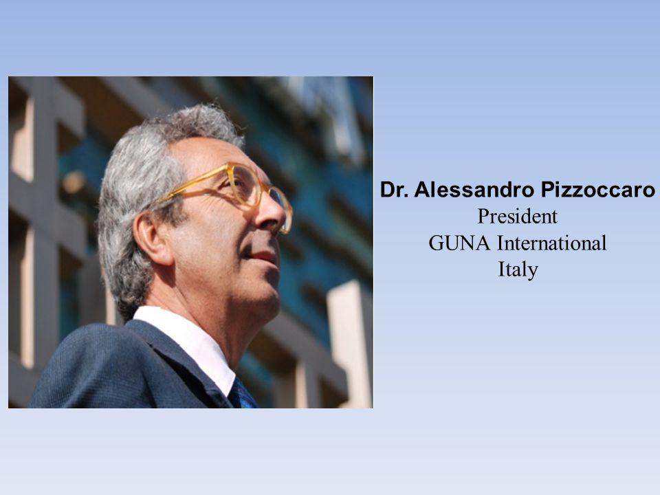 Dr. Alessandro Pizzoccaro President GUNA International Italy