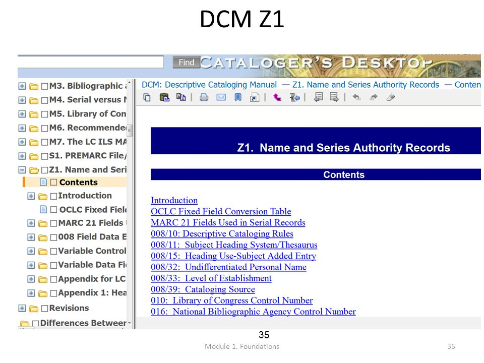 35 DCM Z1 Module 1. Foundations
