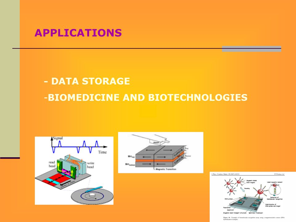 APPLICATIONS - DATA STORAGE -BIOMEDICINE AND BIOTECHNOLOGIES