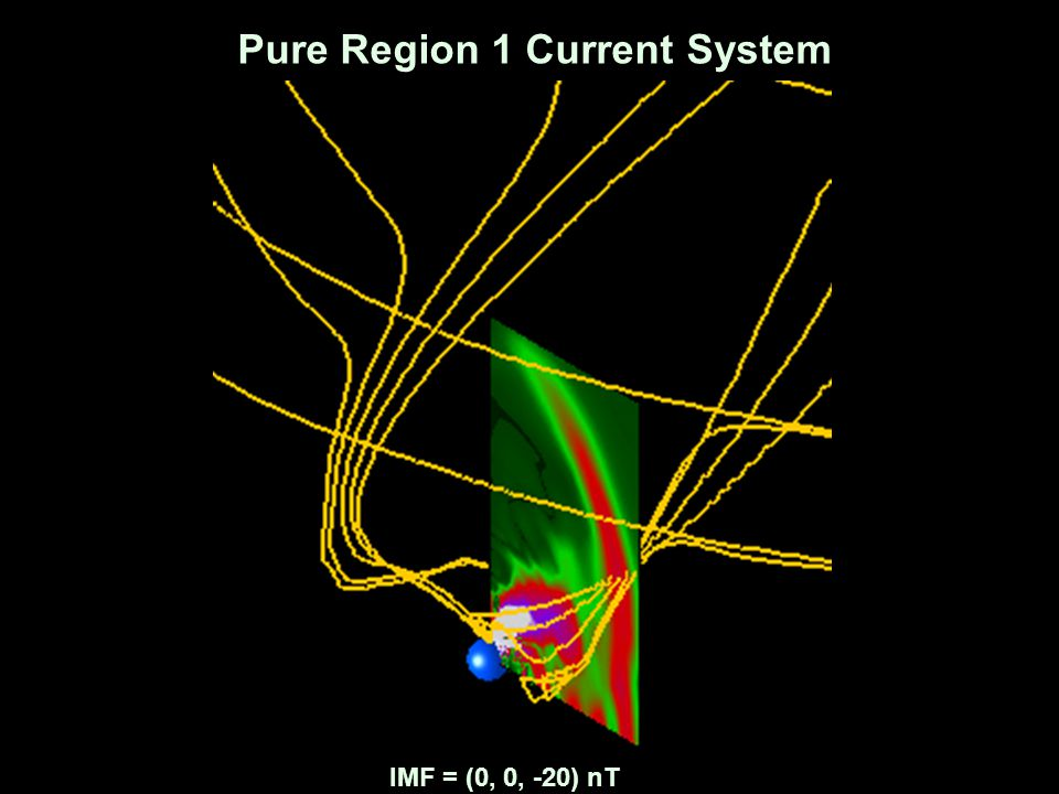 Pure Region 1 Current System IMF = (0, 0, -20) nT