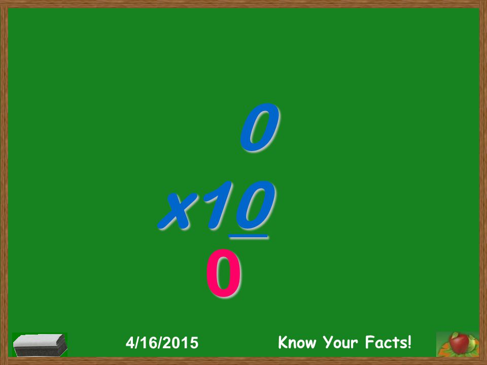0 x10 0 4/16/2015 Know Your Facts!